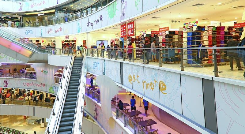 Alameda de compras de Apm, Hong-Kong imagenes de archivo