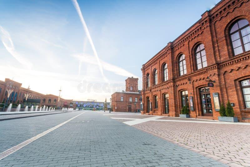 Alameda de compras de Manufaktura, Lodz, Polonia central imagen de archivo