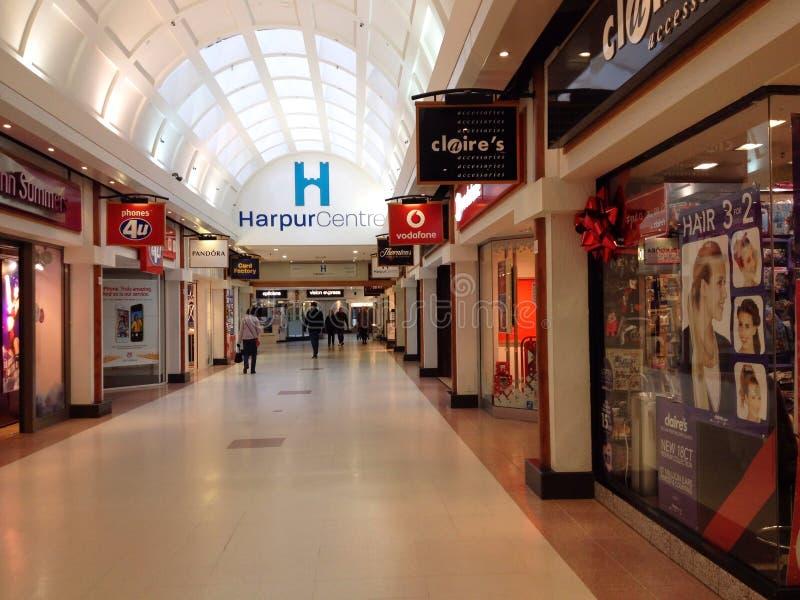 Alameda de compras del centro de Harpur, Bedford, Reino Unido imagen de archivo