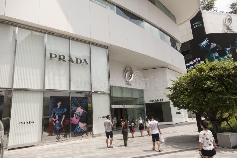 Alameda de compras del emporio en Bangkok foto de archivo libre de regalías