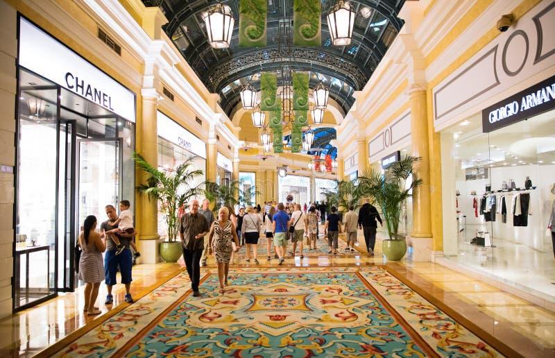 Alameda de compras del hotel de Las Vegas Bellagio imagen de archivo libre de regalías