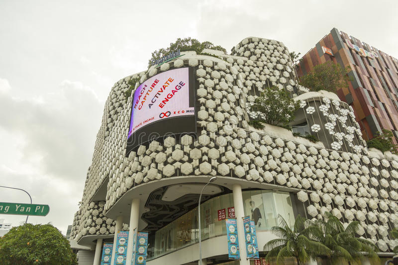 Alameda de compras en Bugis en Singapur fotografía de archivo