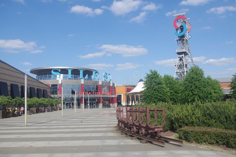 Alameda de compras en Katowice, Silesia, Polonia fotos de archivo