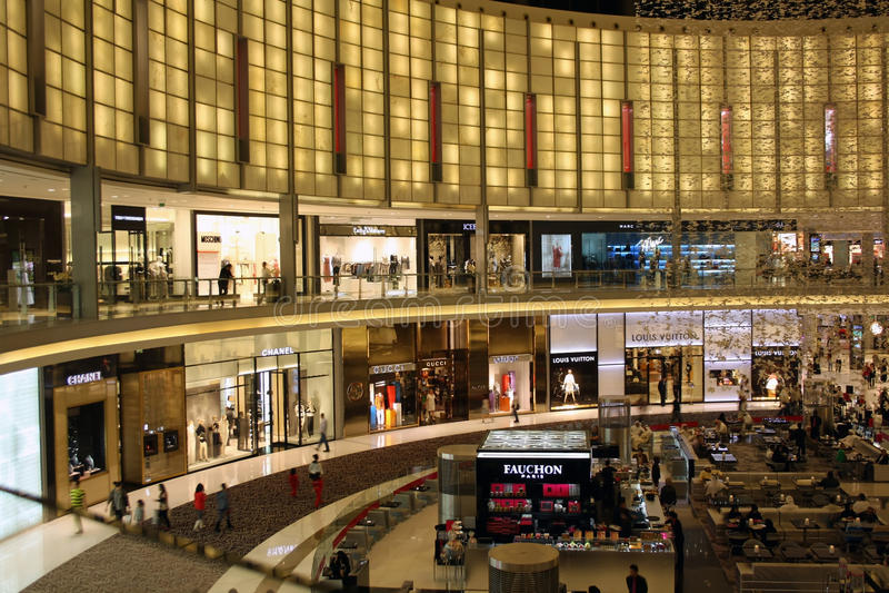 A alameda de Dubai fotos de stock