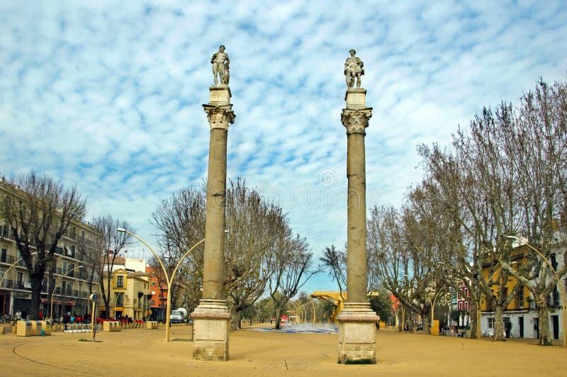 Alameda de Hercule, Séville images libres de droits