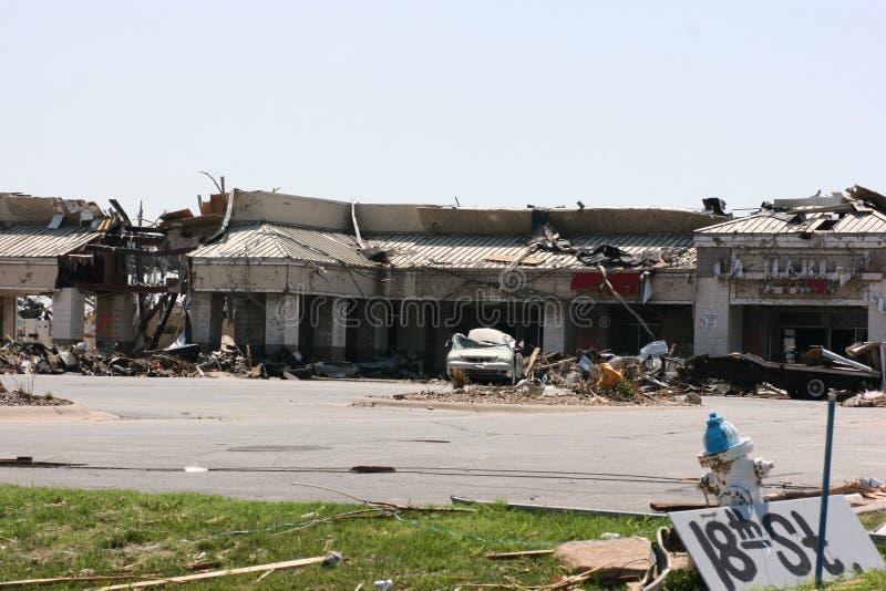 Alameda de tira após o furacão EF5 imagem de stock royalty free