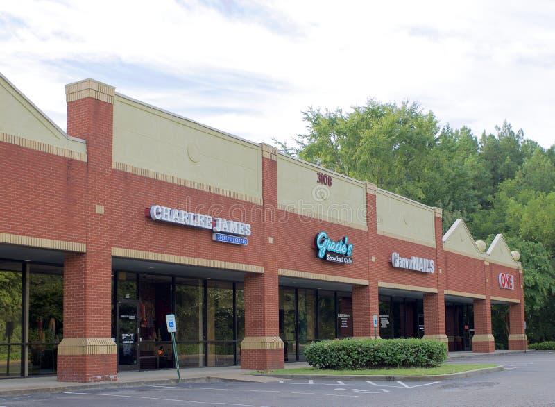 Alameda de tira em Bartlett, TN imagem de stock royalty free
