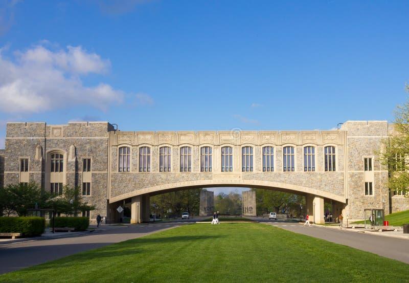 Alameda dos alunos em Virginia Tech imagem de stock