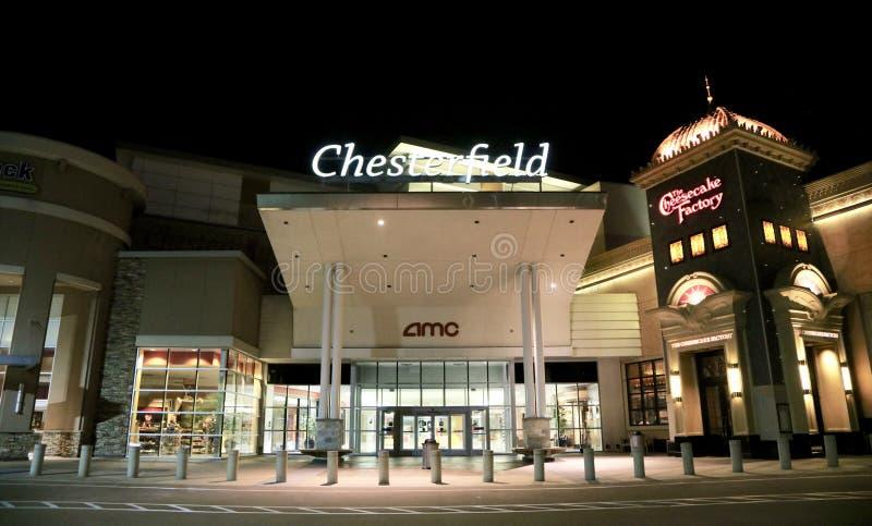 Alameda en la noche, Chesterfield, Missouri de Chesterfield foto de archivo