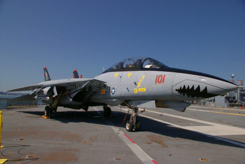 ALAMEDA, LOS E.E.U.U. - 23 DE MARZO DE 2010: F-14A Tomcat, avispón de portaaviones en Alameda, los E.E.U.U. el 23 de marzo de 201 fotografía de archivo libre de regalías