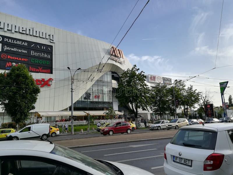 Alameda mega em Bucareste foto de stock royalty free