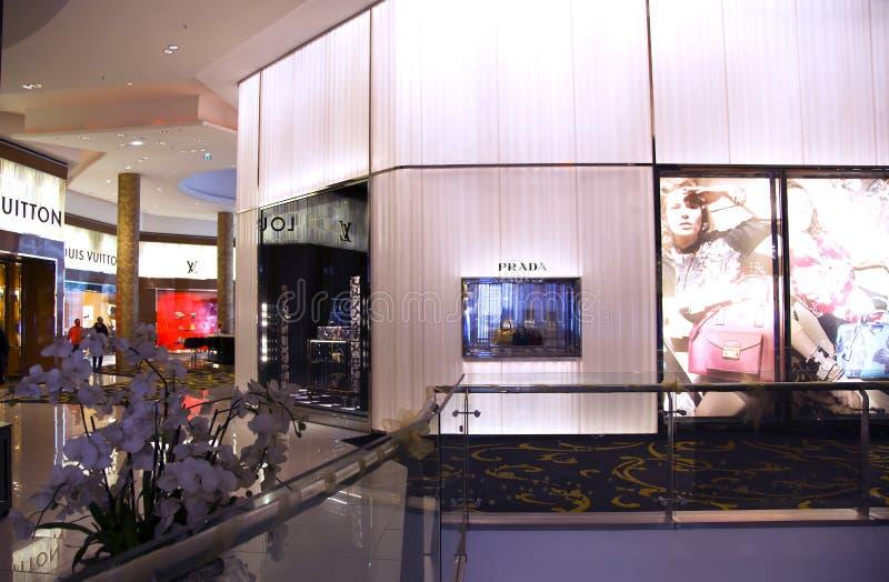 Alameda moderna interior de lujo de Marruecos del centro comercial fotos de archivo