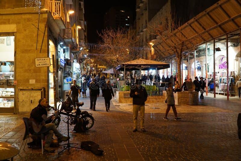 Alameda peatonal de Ben Yehudah Street imágenes de archivo libres de regalías