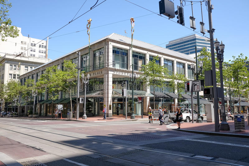Alameda pioneira do lugar, Portland, Oregon fotos de stock royalty free