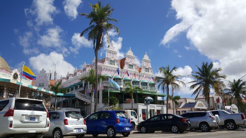 Alameda real Aruba de la plaza fotos de archivo libres de regalías
