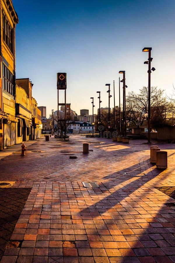 A alameda velha abandonada da cidade em Baltimore, Maryland imagem de stock royalty free