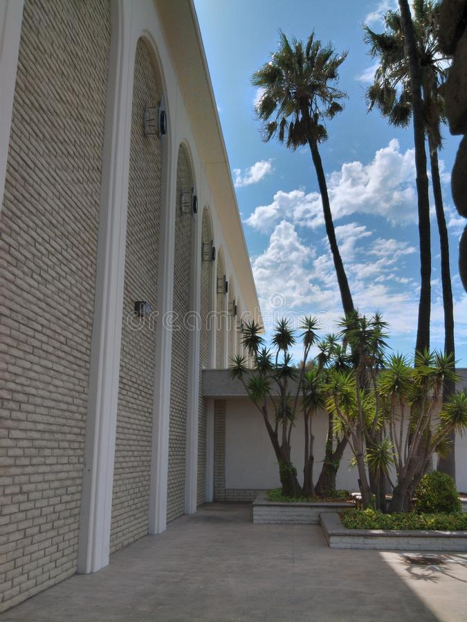Alameda vieja de los años 60 en Carlsbad, California imagenes de archivo