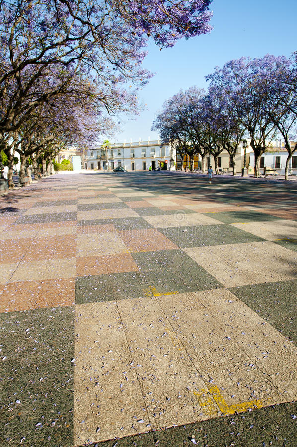 Alameda Vieja - Jerez de la Frontera - Espanha fotografia de stock