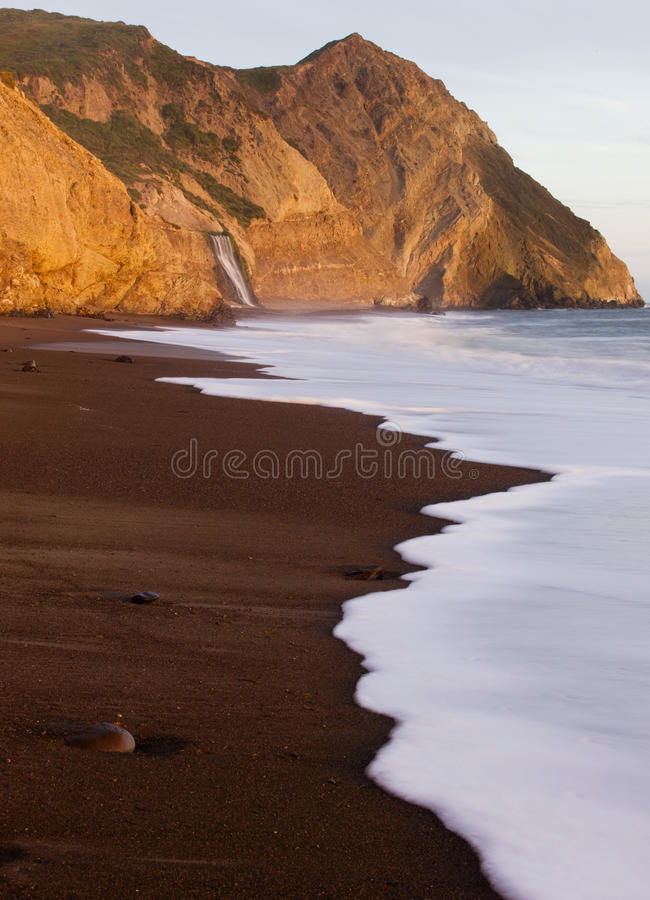Alamere nedgångar, punkt Reyes National Seashore, Kalifornien arkivbilder