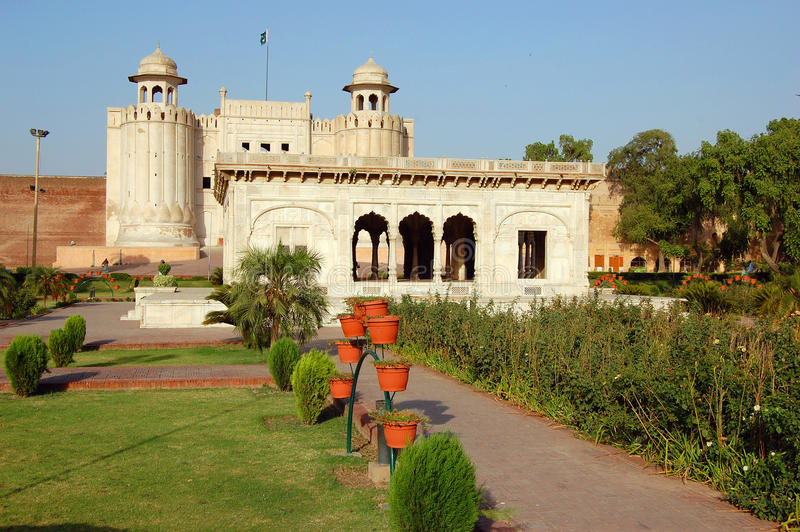 Alamgiri-Tor, Lahore-Fort, Lahore, Pakistan lizenzfreie stockfotografie