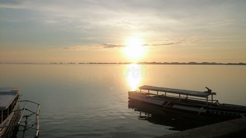Alaminos sunrise stock photography