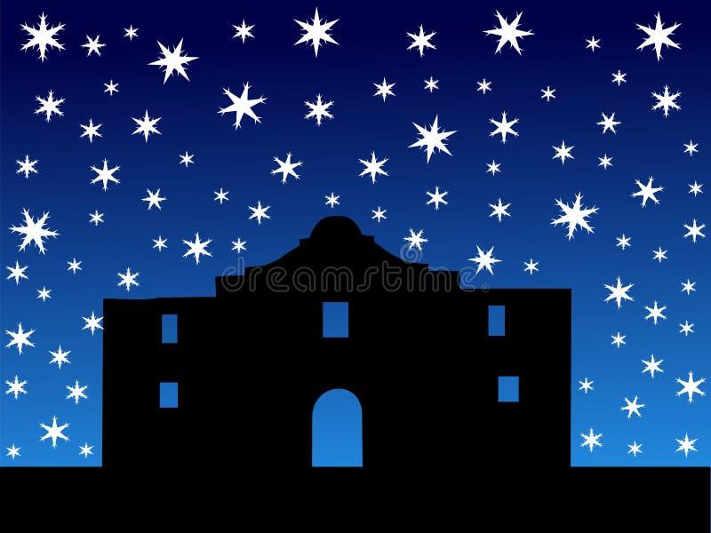 Alamo en hiver illustration de vecteur