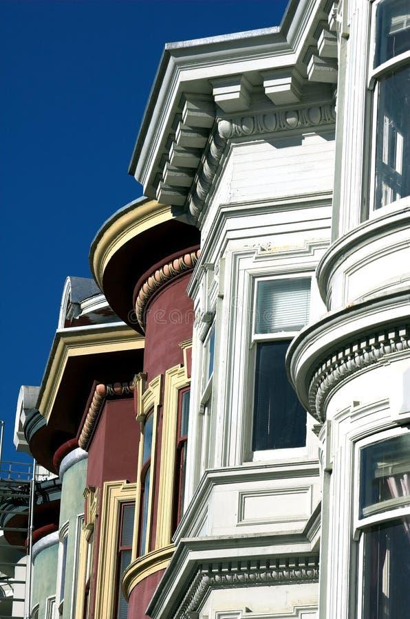 alamo francisco houses san den fyrkantiga victorianen arkivbilder