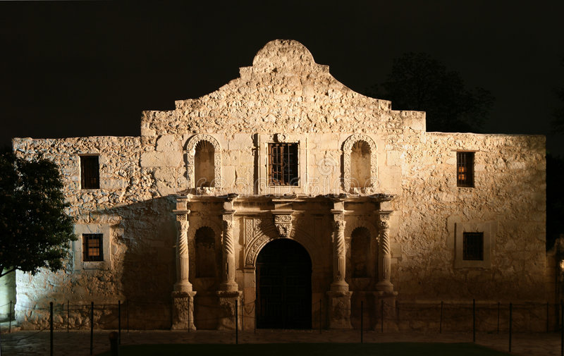 Alamo la nuit image stock