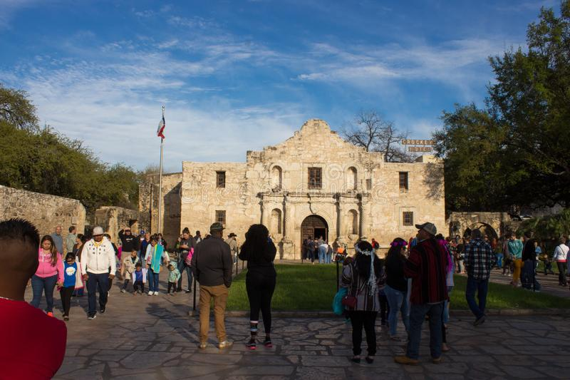 THE ALAMO MISION MUSEUM HISTORICAL PLACES stock photos