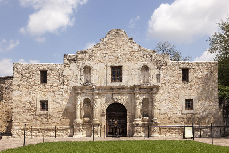 The Alamo Mission in San Antonio, Texas. The Alamo Mission in San Antonio. Texas, United States royalty free stock image