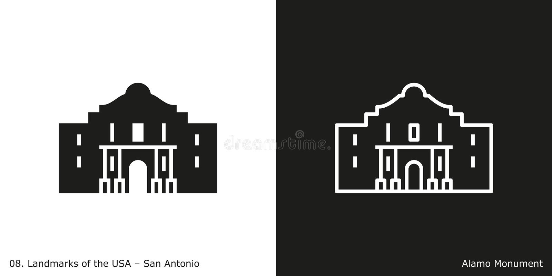 Alamo in San Antonio vektor abbildung