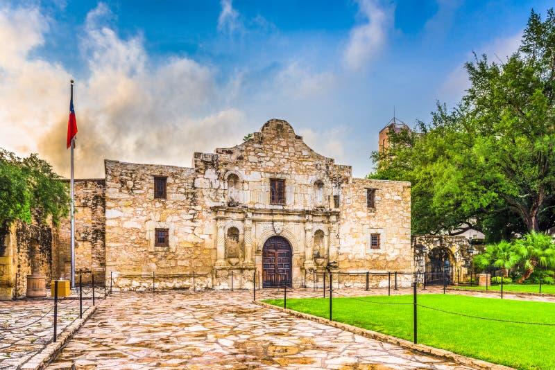 Alamo in San Antonio stock afbeelding