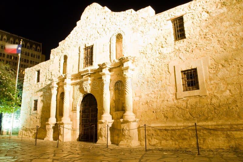 Alamo San Antonio Texas. The Alamo at night - San Antonio Texas. Built in 1724, the Alamo was first named Misión San Antonio de Valero and was originally stock photos