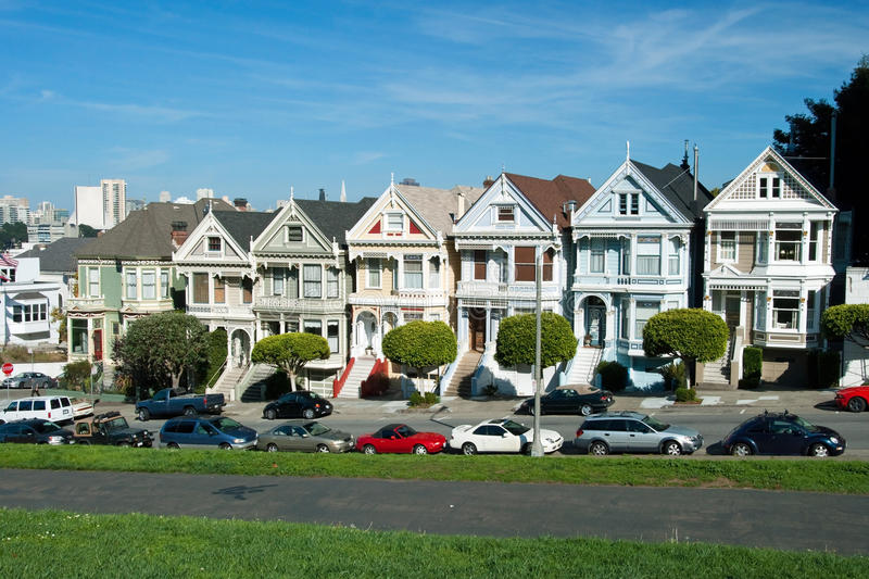 Download Alamo Square In San Francisco, Victorian Houses Stock Photo - Image: 22956370