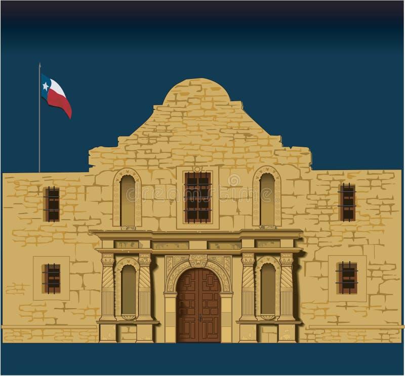 Alamo-Vektor-Illustration stock abbildung