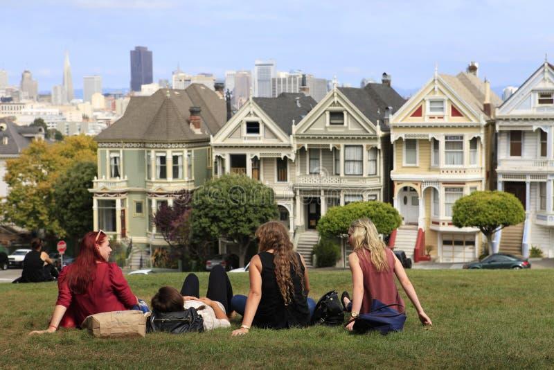 alamo vierkant San Francisco, Californië royalty-vrije stock foto