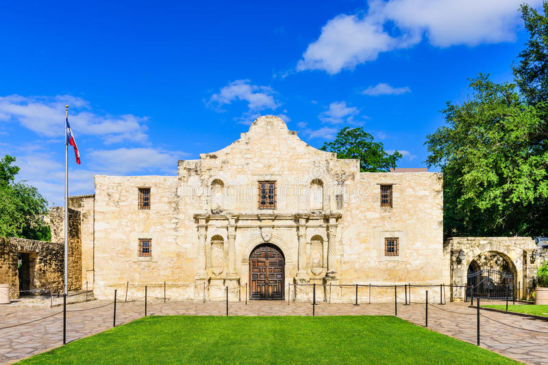 Alamoen i Texas royaltyfria foton