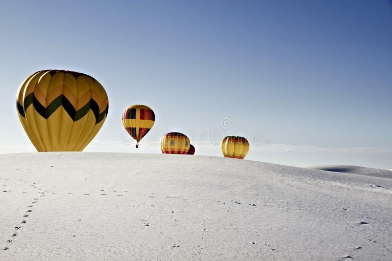 Alamogordo, New Mexico, U.S.A. Festa del pallone sul monumento nazionale delle sabbie bianche, il 19 settembre 2010 fotografia stock libera da diritti