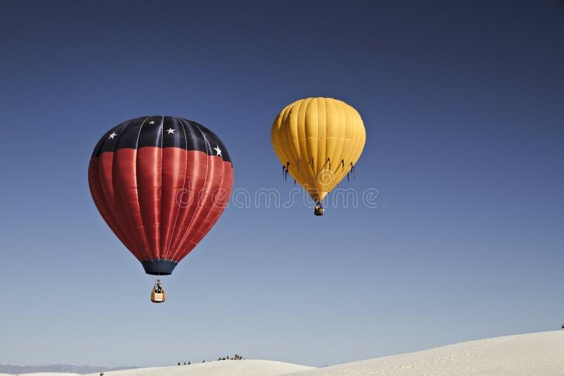 Alamogordo, New Mexiko, USA Ballon-Fiesta auf weißen Sanden, Alamogordo, New Mexiko, USA lizenzfreies stockbild