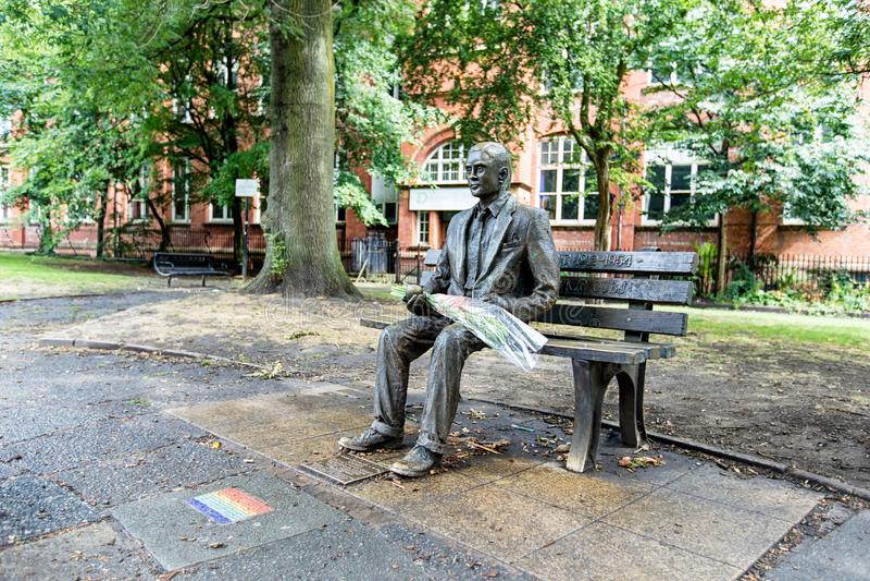 Alan Turing Memorial em Manchester imagens de stock royalty free