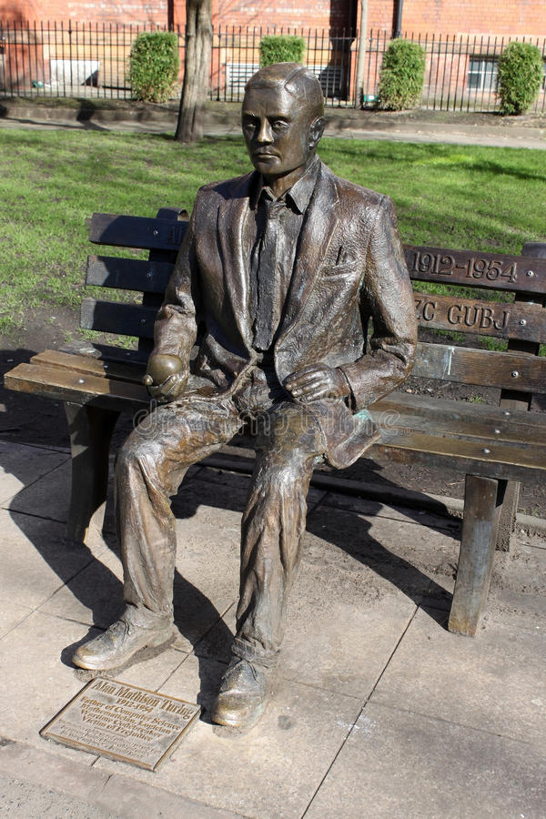 Alan Turing Statue Sackville Gardens Manchester Editorial Photography