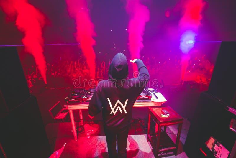 Alan Walker DJ. Superstar DJ Alan Walker live in concert stock photography