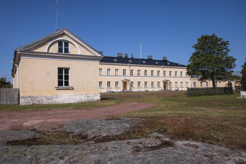 Aland-Inseln, Finnland - 12. Juli 2019 - russische Posten-Station und Gewohnheiten in Ecker lizenzfreie stockfotos