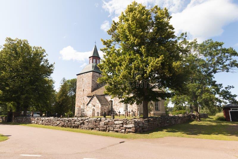 Aland Islands, Finland - July 12, 2019 - Saltvik church. Churches on the Ã…land Islands. Aland Islands, Finland - Saltvik church. Churches on the Ã…land royalty free stock photo