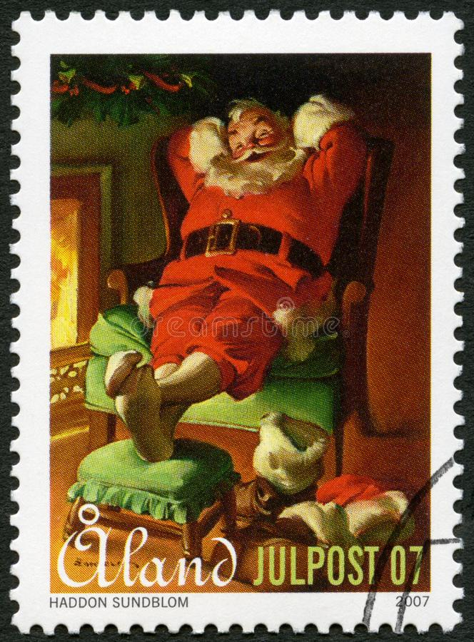 ALAND - 2007: shows Santa Claus, devoted Christmas stock photos