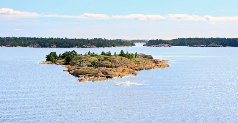 Aland wysp archipelag, widok od statku wycieczkowego obraz royalty free