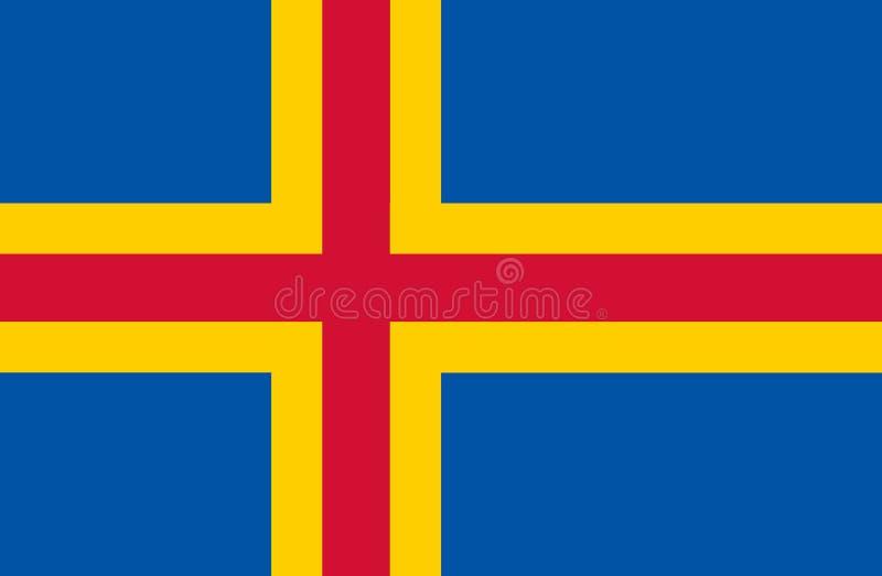 Aland wysp flaga ilustracja wektor