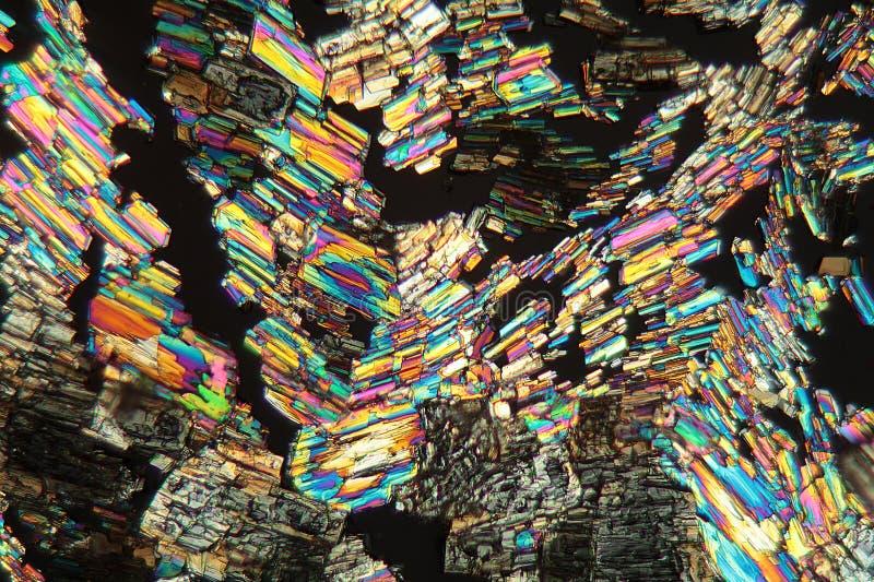 Alanina Amino kwas pod mikroskopem zdjęcie royalty free