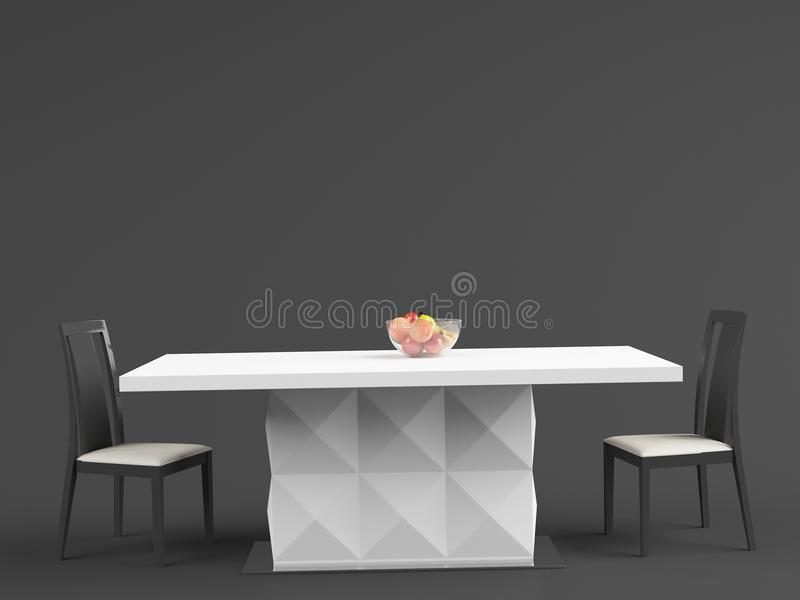 ALANNAH – Dining Table 02 stock photography