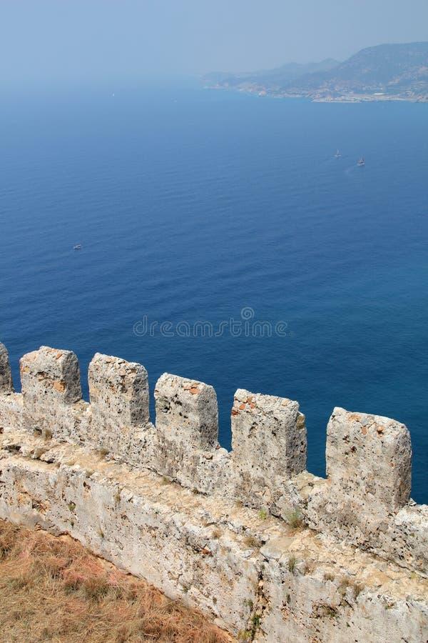 Alanya城堡在土耳其 免版税库存图片